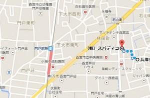 西宮店へ地図